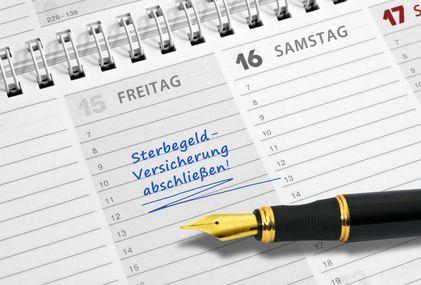Foto des Terminkalenders mit Stift